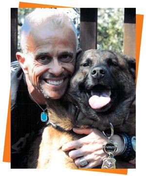 Scott with dog photo