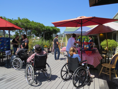 photo of participants on patio