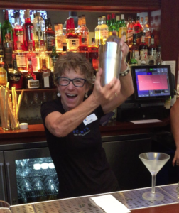 Bartender shaking cocktail photo