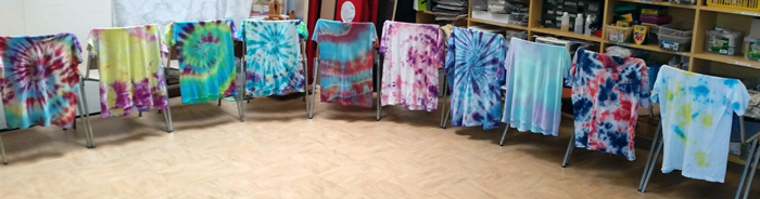 Photo of tie-dye shirts