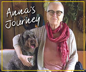 Photo of Anna survivor & dog Maggie