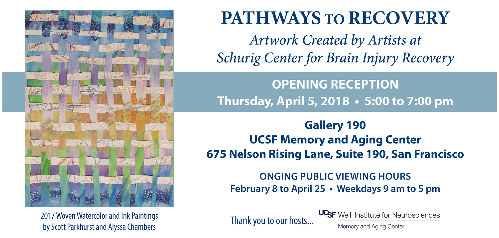 Pathways to Recovery Art Show Graphic