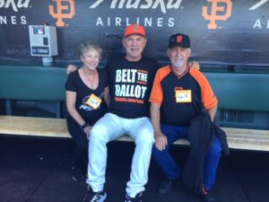 Photo of Kati Miller, Bruce Bochy & Mike Shea