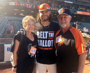 Photo of Kati Miller, Brandon Crawford & Mike Shea