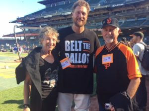 Photo of Kati Miller, Hunter Pence, Mike Shea