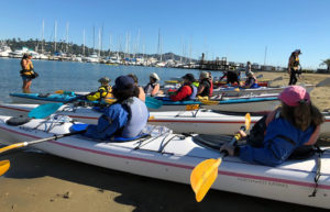 Photo of kayakers getting instruction