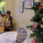 Photo of Holiday Art Show Harpist